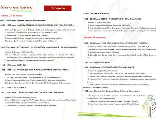 Descubre el programa completo del I Congreso Ibérico de Caza y Conservación