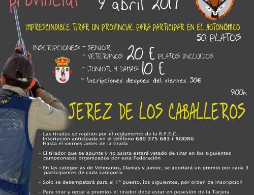 El Campeonato Provincial de Badajoz de Compak Sporting se celebra el domingo en Jerez de los Caballeros