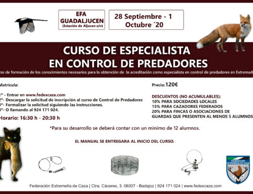 Curso de control de predadores en EFA Guadaljucén