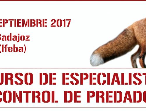 FEDEXCAZA celebrará un Curso de Especialista en control de predadores en septiembre en Badajoz