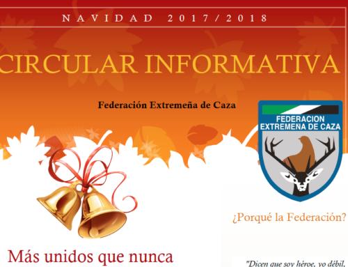 Circular de FEDEXCAZA – Diciembre de 2017