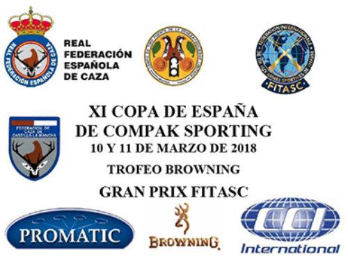 Abierta la inscripción para la Copa de España de Compak Sporting