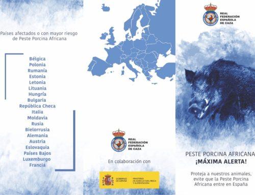 Los cazadores se implican en poner freno a la entrada de la peste porcina africana en España