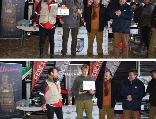 Michiel Buil y Gabriel Miguel Ballesteros, ganadores autonómicos del Campeonato de Extremadura de Cetrería 2019