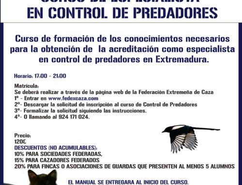 Curso de especialista en control de predadores