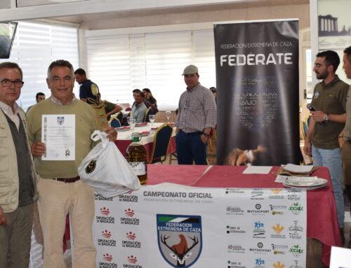 Dionisio Valencia y 'Candela' se imponen en el Campeonato de Extremadura de Trabajo para Podenco Andaluz 2019