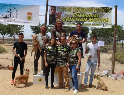 El I Memorial Cristian Molina reúne en La Zarza a más de una treintena de podencos