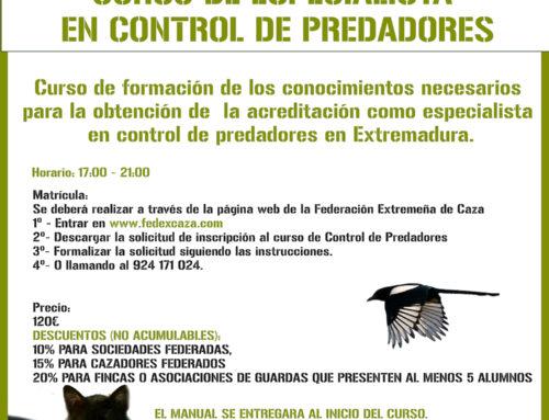 FEDEXCAZA impartirá un nuevo curso de especialista en control de predadores en septiembre en FECIEX 2019