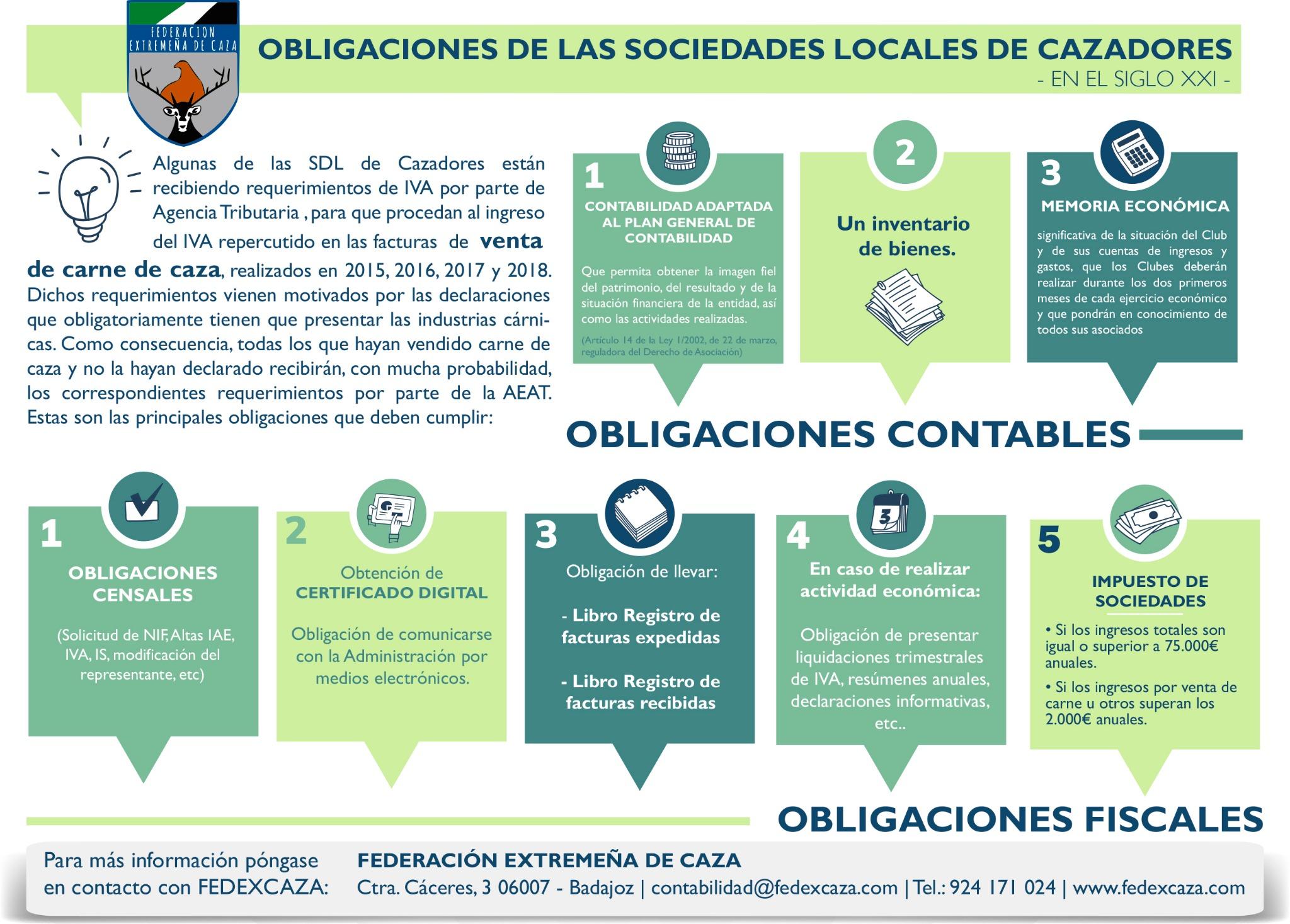 Fedexcaza informa sobre las obligaciones que deben cumplir las sociedades locales de cazadores