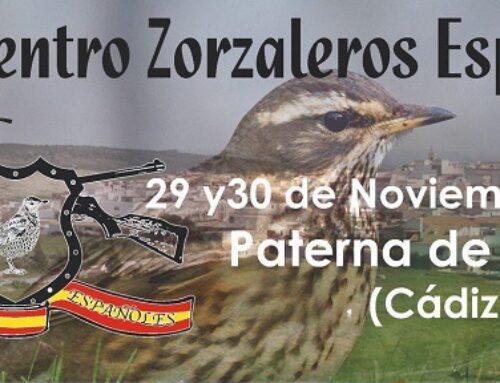 FEDEXCAZA participará en el 5º Encuentro de Zorzaleros Españoles en Paterna de Rivera (Cádiz)