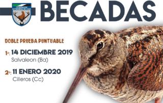 Cartel del campeonato de Extremadura de Becadas
