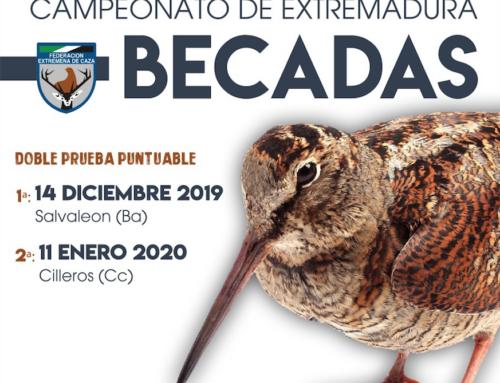 El Campeonato de Extremadura de Becadas se celebra con una doble prueba puntuable en Salvaleón y Cilleros