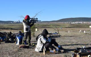 Tiradores en jornada de Field Target