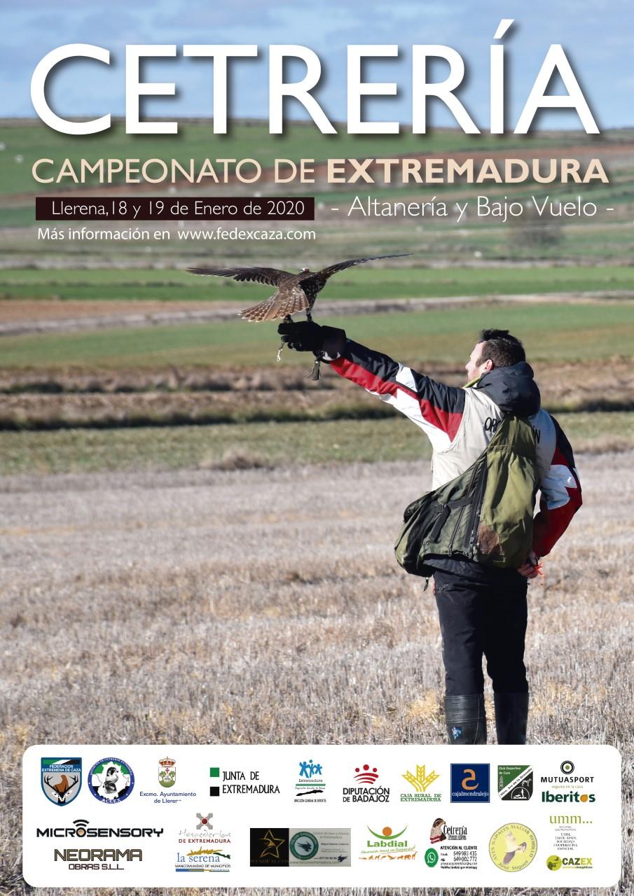 Cartel del Campeonato de Extremadura de Cetrería 2019