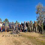 Participantes en el Campeonato de Extremadura de Becadas