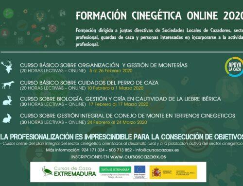 La Junta lanza la segunda edición del proyecto de Formación Cinegética Online, que oferta cuatro cursos gratuitos
