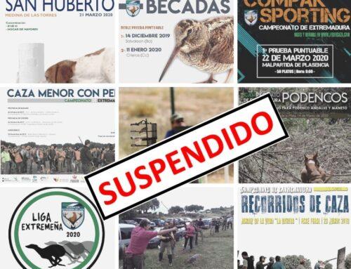 Situación de los campeonatos de caza en Extremadura
