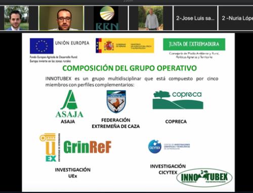 INNOTUBEX presenta su proyecto en una jornada online entre grupos operativos y proyectos innovadores centrados en la sanidad animal