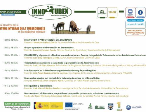 El Grupo Operativo de Innovación INNOTUBEX llevará a cabo una jornada de difusión el 25 de noviembre a través de un seminario web