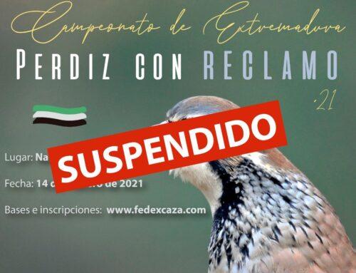 Suspendido el Campeonato de Extremadura de Perdiz con Reclamo